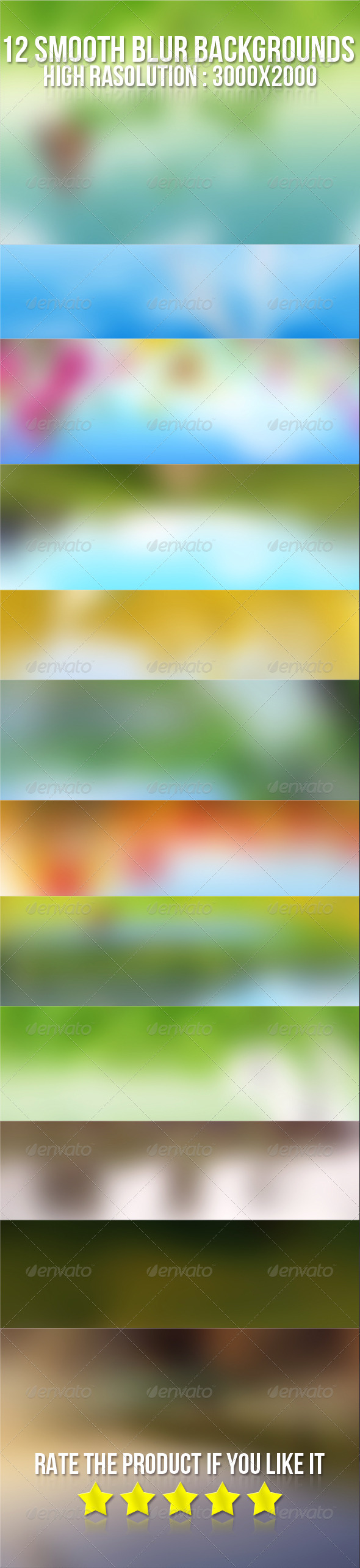 12 Smooth Blur Backgrounds  - Backgrounds Graphics