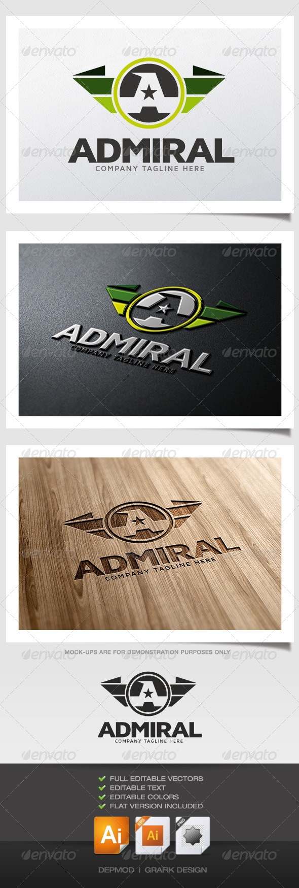 Admiral Logo - Letters Logo Templates