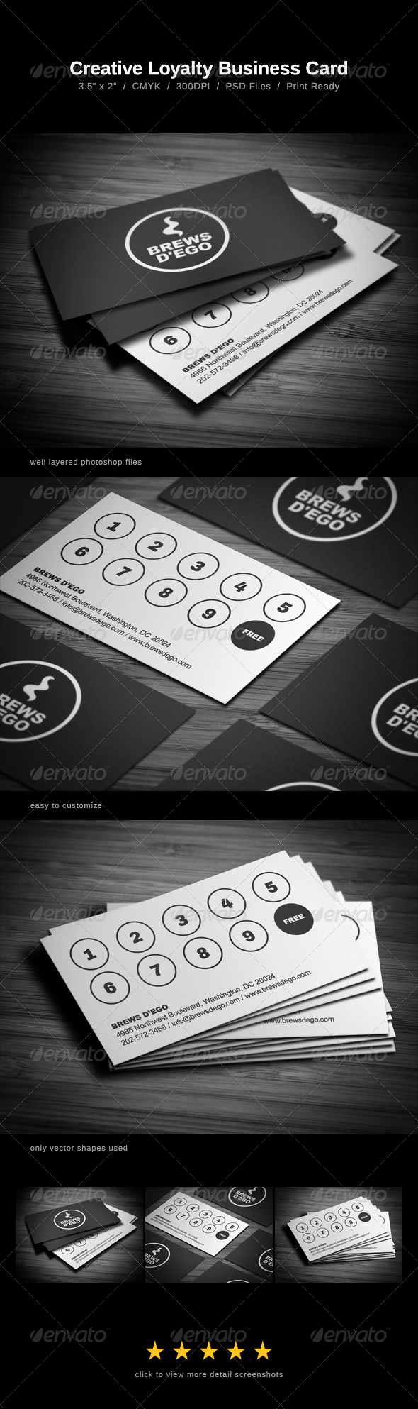 Creative Loyalty Business Card - Print Templates
