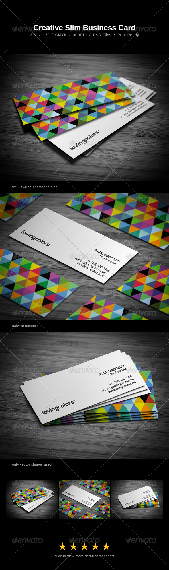 Creative Slim Business Card by FlowPixels | GraphicRiver