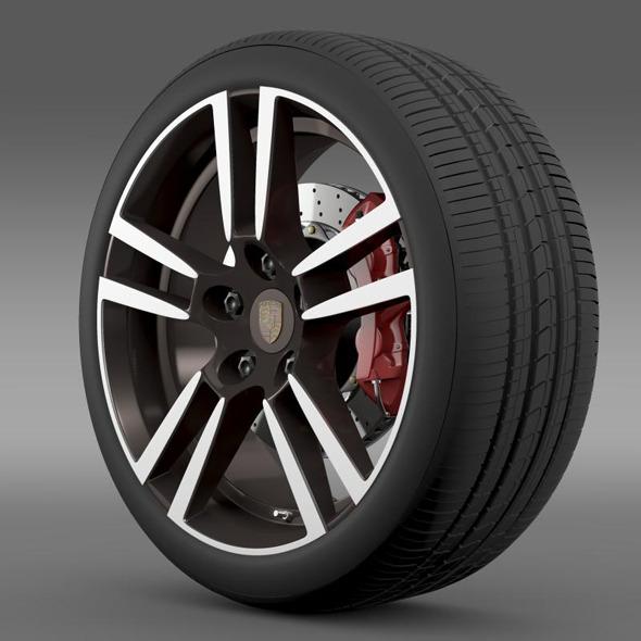Porsche  911 Cabriolet Turbo wheel - 3DOcean Item for Sale