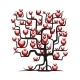 Love Tree with Red Hearts - GraphicRiver Item for Sale