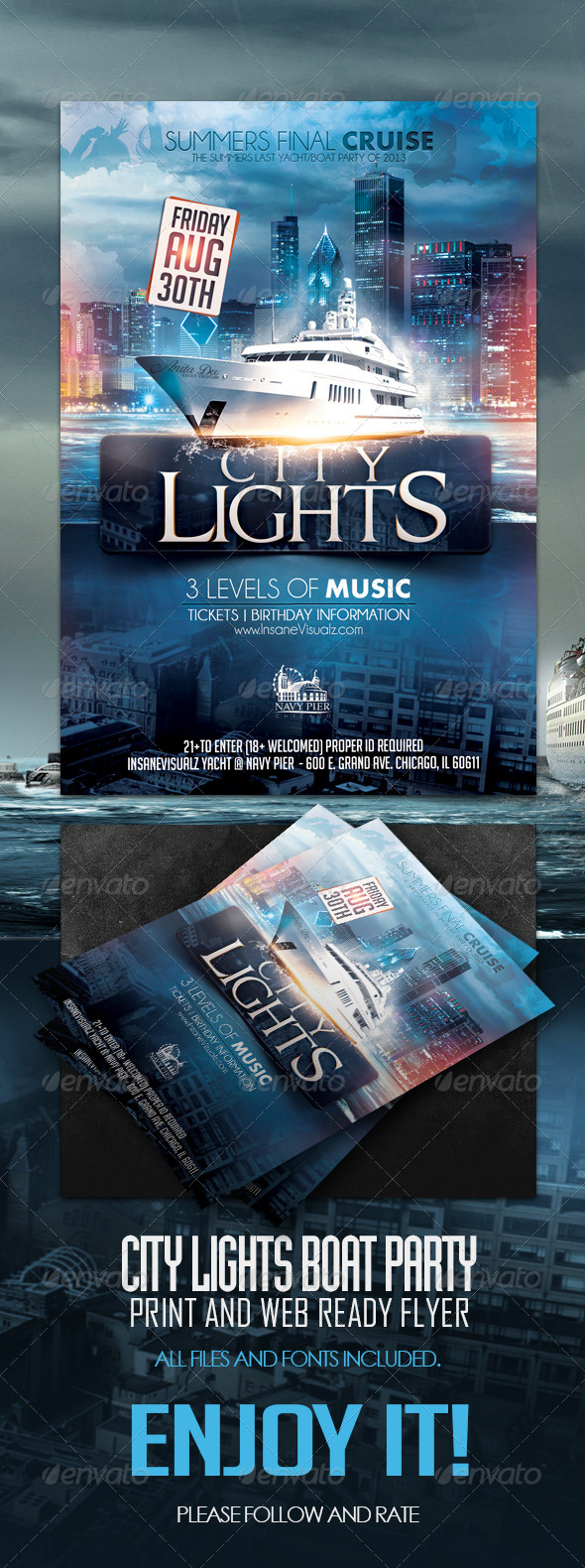 City Lights Boat Party - Events Flyers