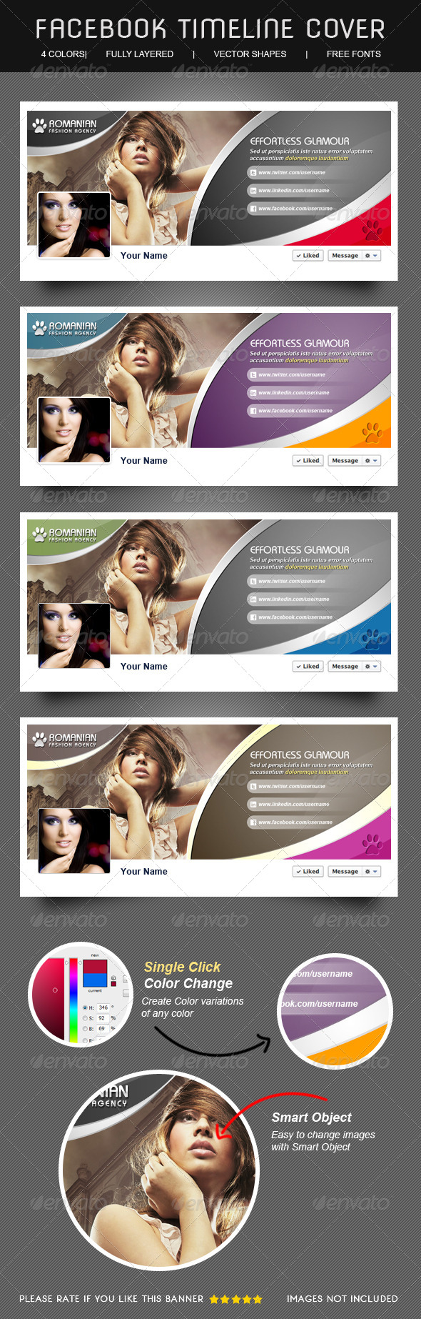 Glamour & Fashion Facebook Timeline Cover  - Facebook Timeline Covers Social Media