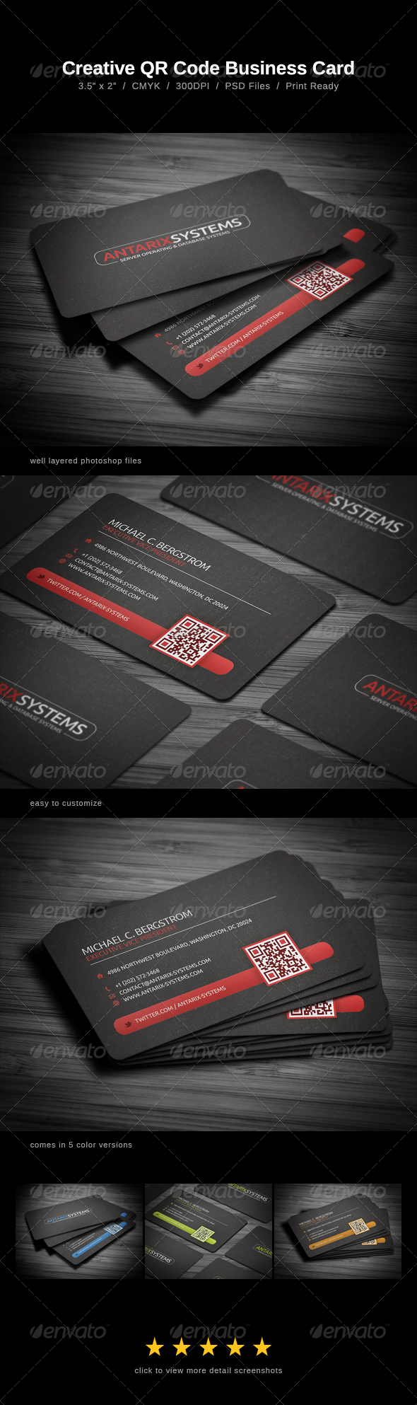 Creative QR Code Business Card - Business Cards Print Templates