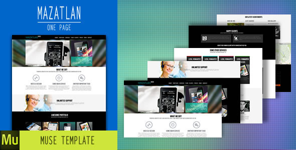 Mazatlan - One Page Muse Template - Creative Muse Templates