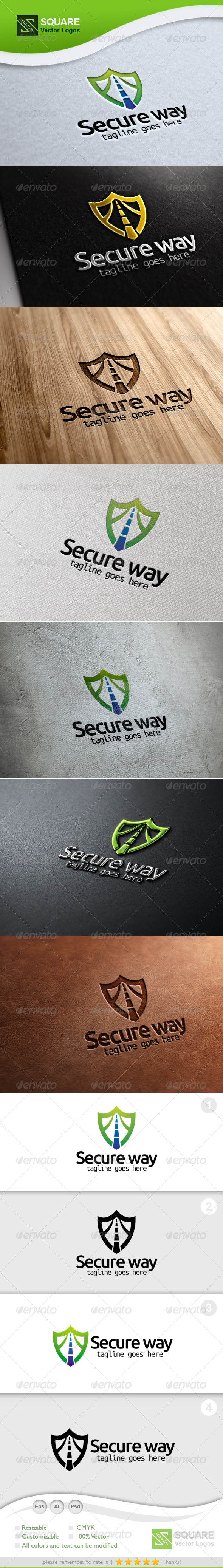 Secure, Way Vector Logo Template - Symbols Logo Templates