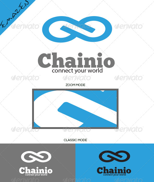 Infinity Chainio Logo Template - Vector Abstract