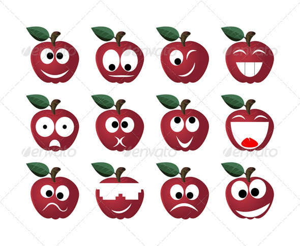 Apple smile - Miscellaneous Characters