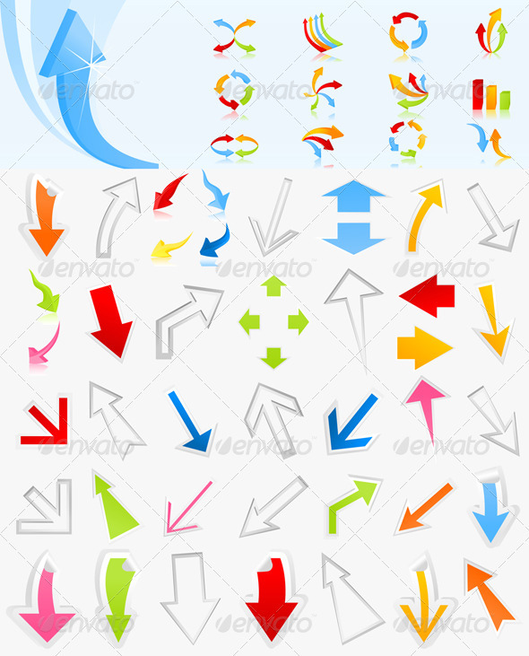 Collection of arrows4 - Web Elements Vectors