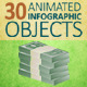 30 Animated Infographic Objects - VideoHive Item for Sale