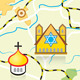 Vector Map of The Country with Religious Landmarks - GraphicRiver Item for Sale