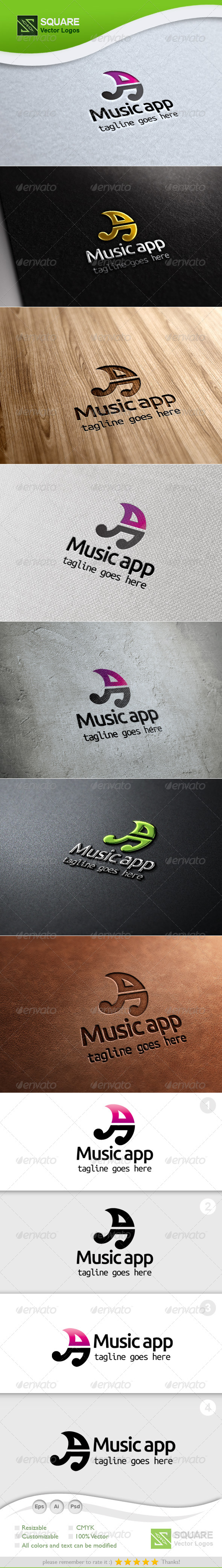 A, Music Vector Logo Template - Letters Logo Templates
