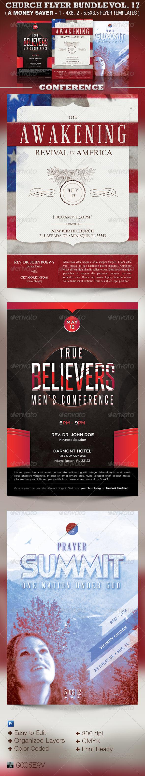 Conventions Church Flyer Template Bundle Vol 17 - Church Flyers
