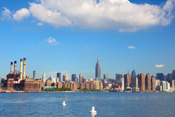New York skyline - Stock Photo - Images