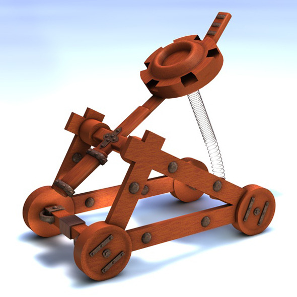 Catapult Model - 3DOcean Item for Sale