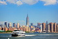 Ferry and Manhattan skyline - PhotoDune Item for Sale