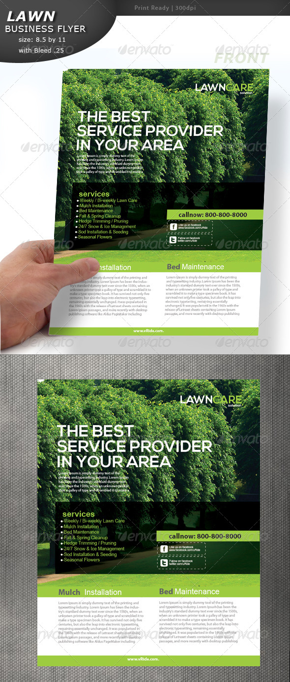 Lawn care flyer by designcrew graphicriver for Lawn care flyer template free