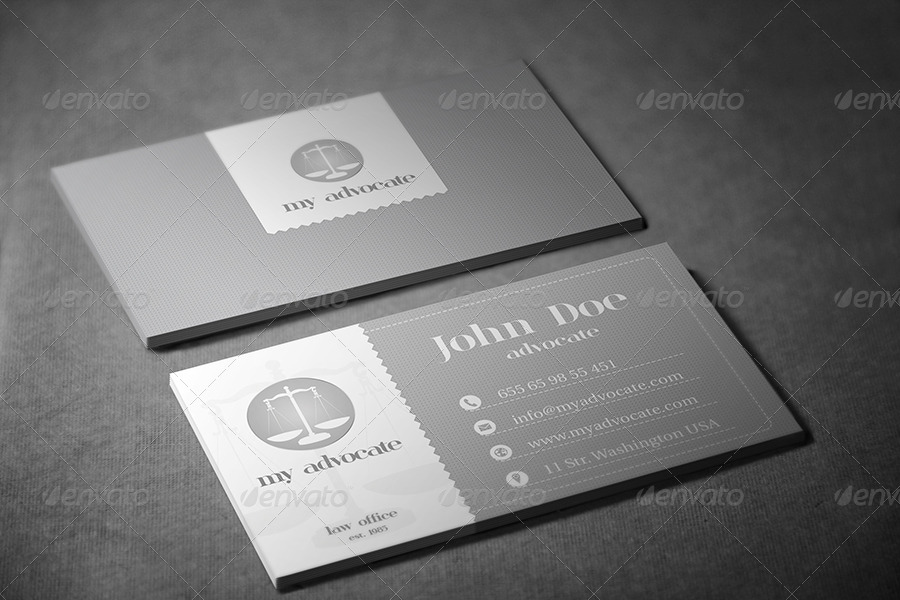Advocate Business Card By Kleantix Graphicriver