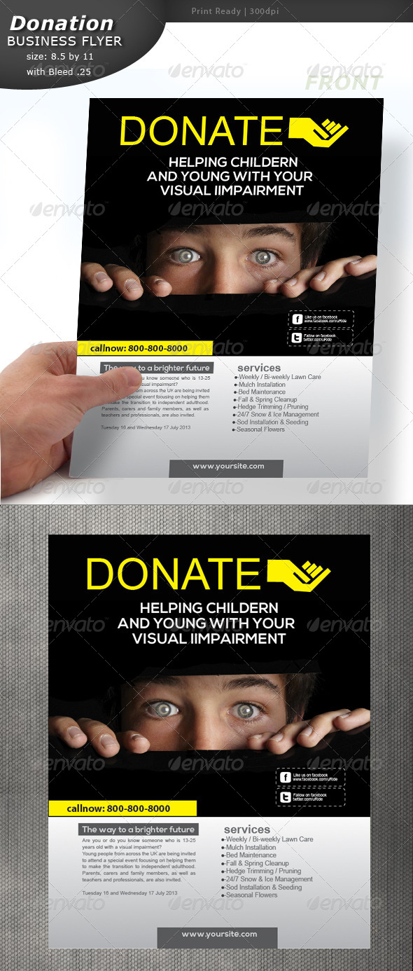 donation flyer by designcrew graphicriver. Black Bedroom Furniture Sets. Home Design Ideas