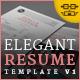 Elegant Resume/CV V1 - GraphicRiver Item for Sale