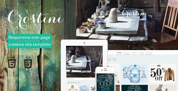 Crostini – Responsive One-page Portfolio Template