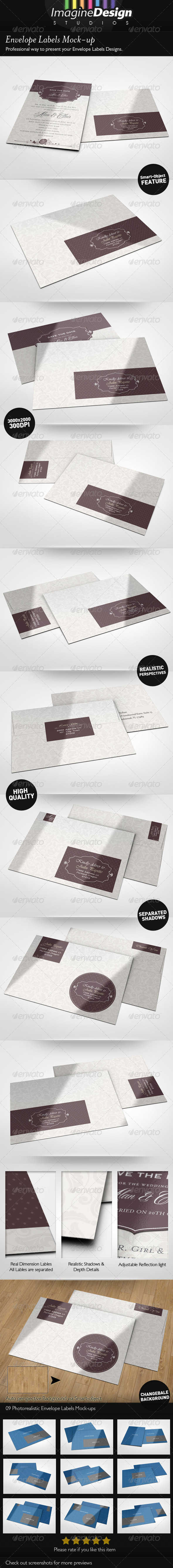 Envelope Labels Mock-up - Miscellaneous Print