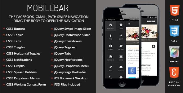 Mobilebar Mobile | Mobile Template - Mobile Site Templates