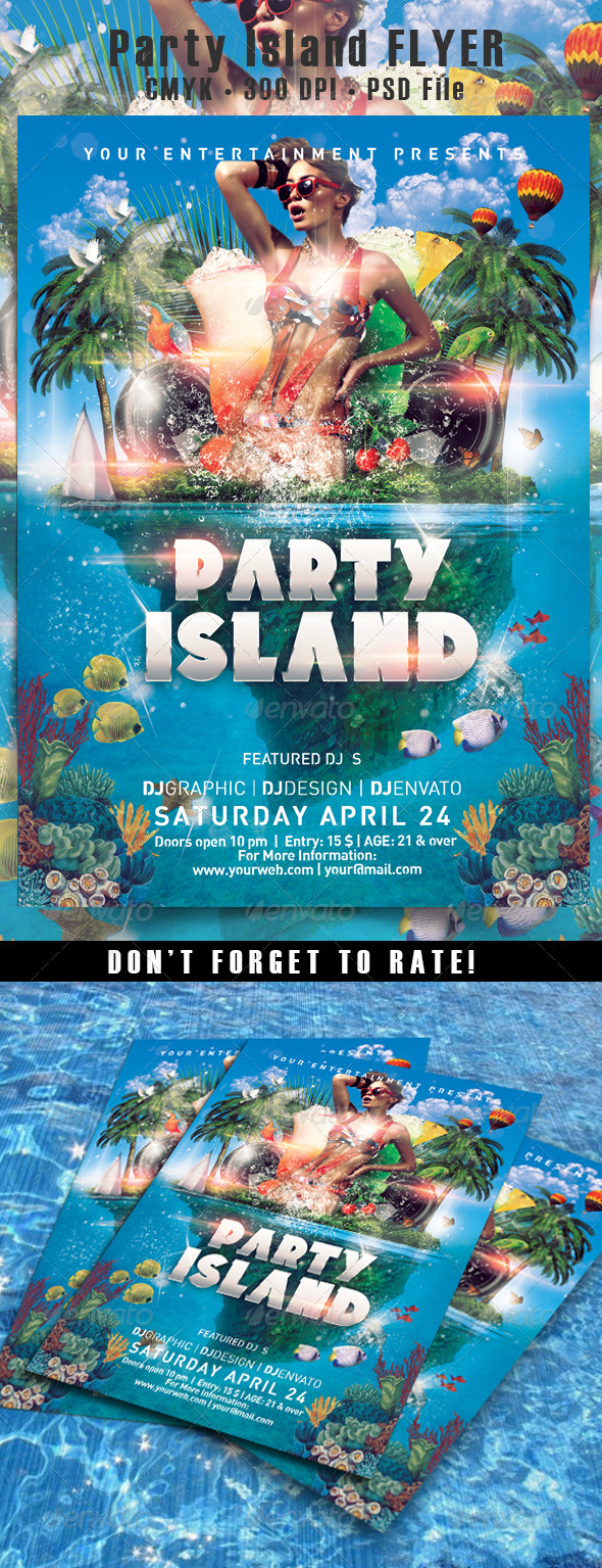 Party Island Flyer - Events Flyers