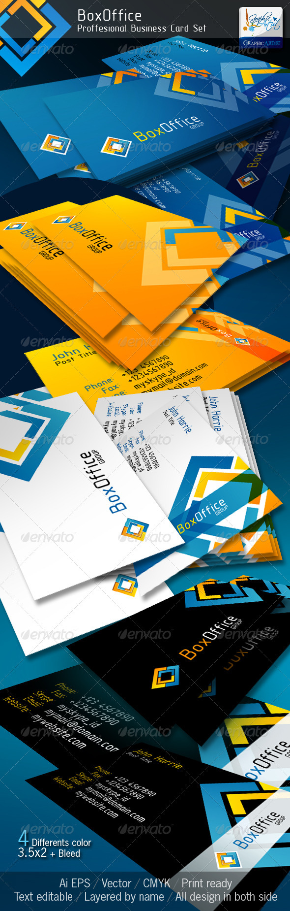 BoxOffice Official Business Card - Corporate Business Cards