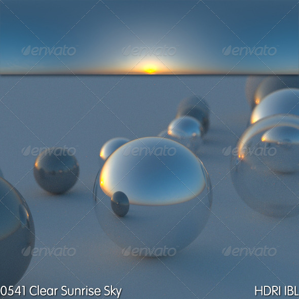 HDRI IBL 0541 Clear Sunrise Sky - 3DOcean Item for Sale
