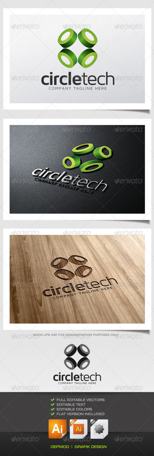 Circle Tech Logo - Abstract Logo Templates