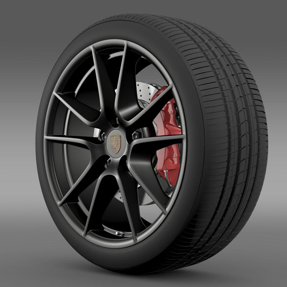 Porsche 911 Carerra Exclusive wheel  - 3DOcean Item for Sale