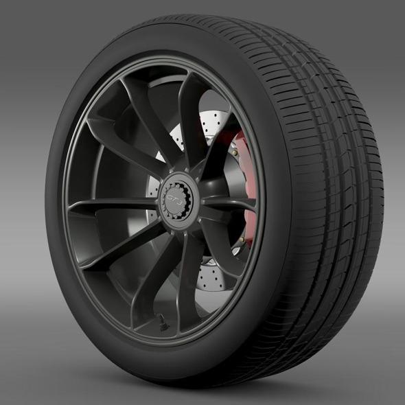 Porsche 911 GT3 2014 wheel  - 3DOcean Item for Sale