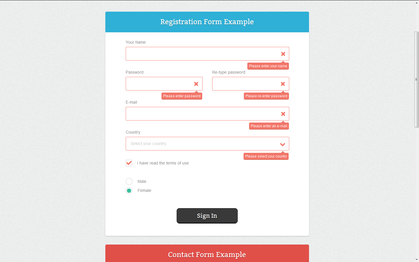 Responsive css forms set validation by datanasov codecanyon responsive css forms set validation falaconquin