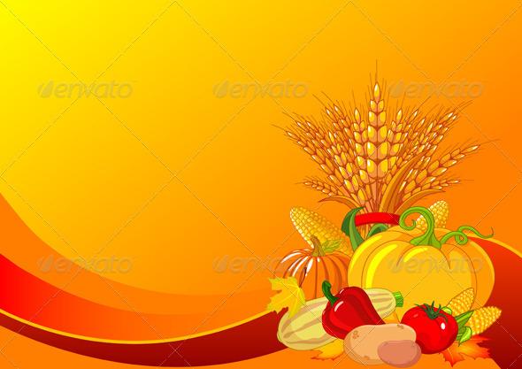Thanksgiving / harvest background - Backgrounds Decorative