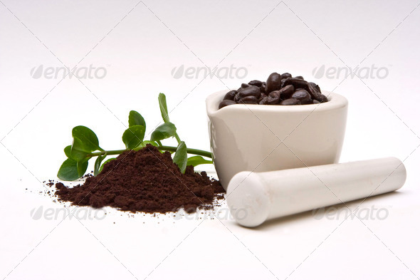 Gourmet Coffee and grind - Stock Photo - Images