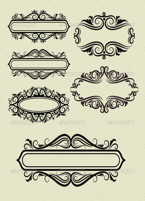 Frame Ornament Decorations by ComicVector703 | GraphicRiver