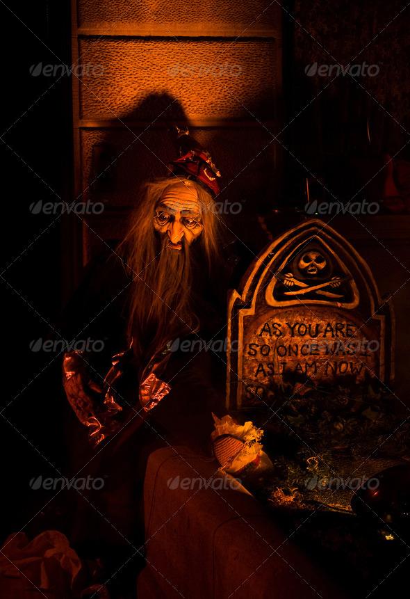 Halloween Graveyard shift - Stock Photo - Images