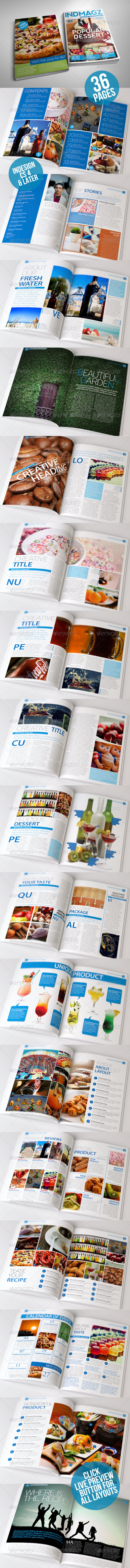 36 Pages Modern & Clean Magazine Templates - Magazines Print Templates