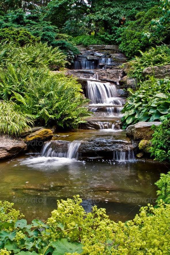 Beautiful waterfall - Stock Photo - Images