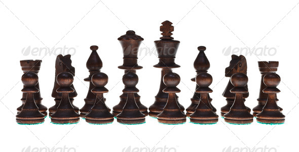set of chess pieces - Stock Photo - Images