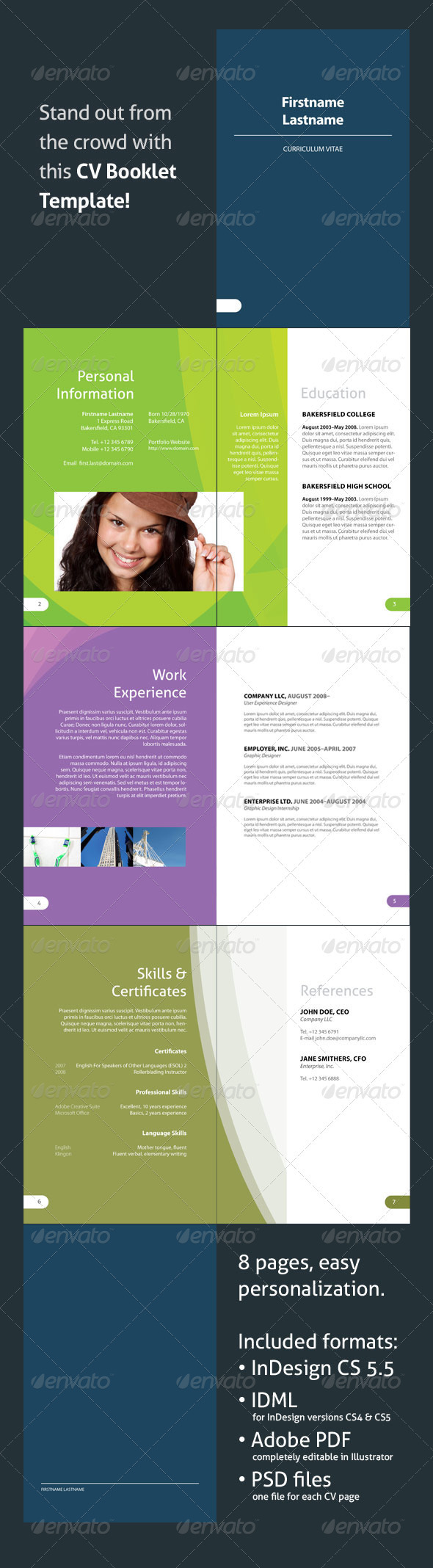 CV Booklet Template - Resumes Stationery