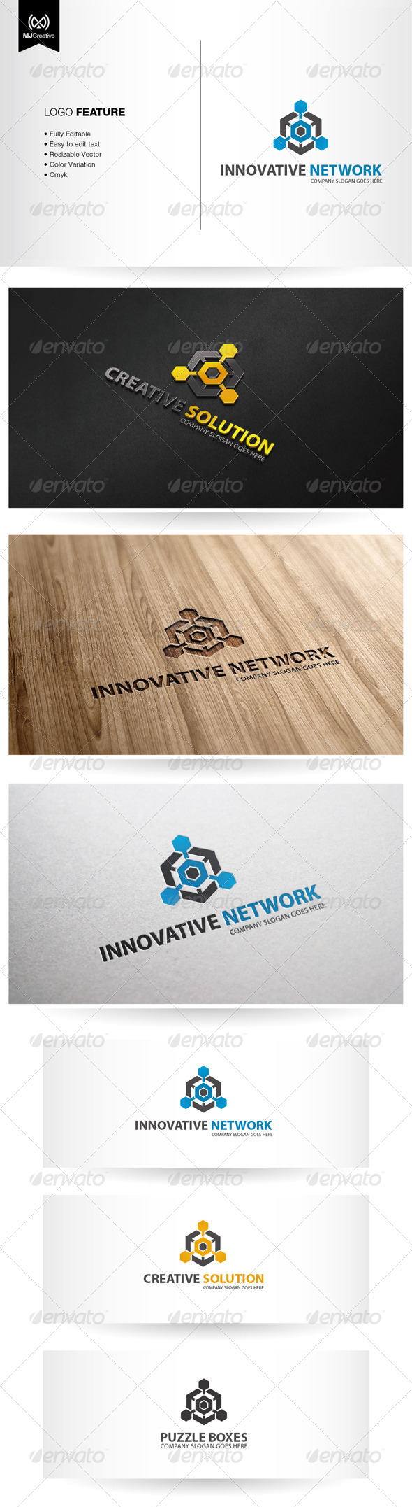 Technology and Puzzle Box Logo - Abstract Logo Templates