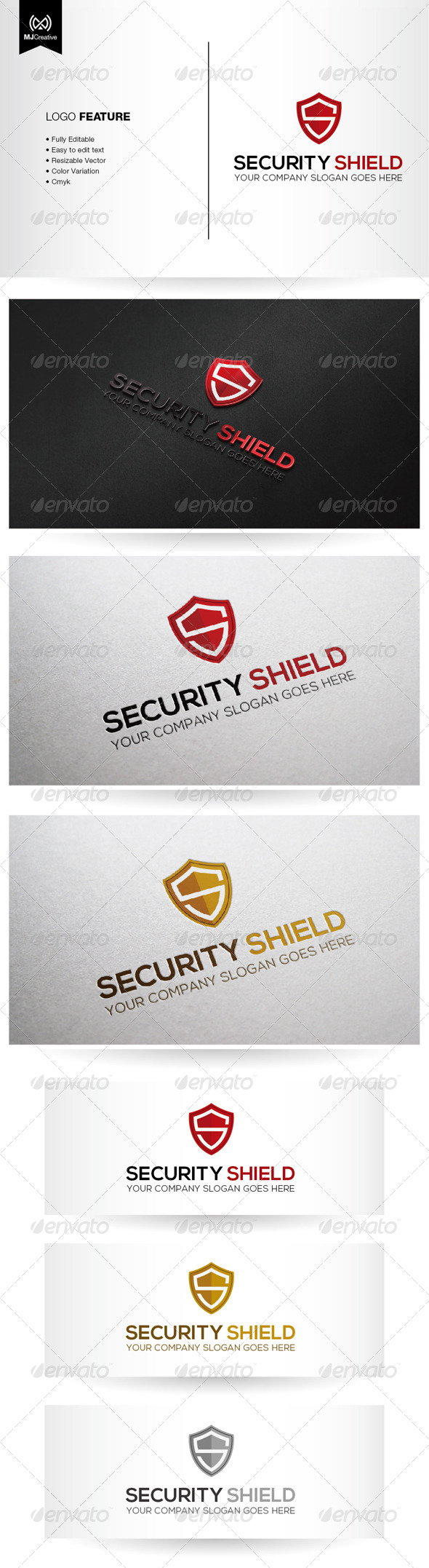 Security Shield - Letters Logo Templates