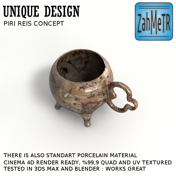 Piri Reis Concept Huge Coffee Mug - 3DOcean Item for Sale
