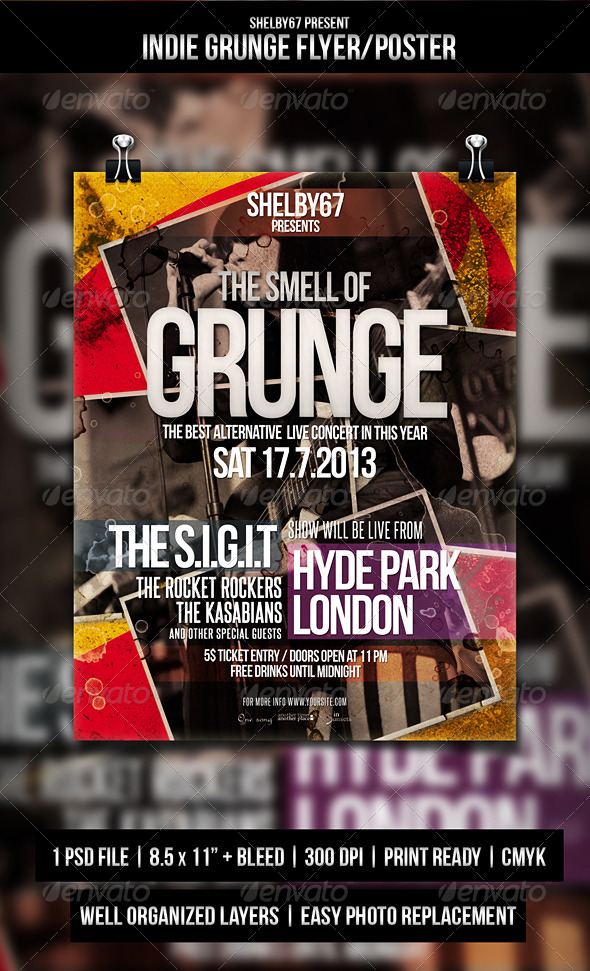 Indie Grunge Flyer / Poster - Events Flyers