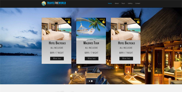 Travel The World - Corporate Site Templates