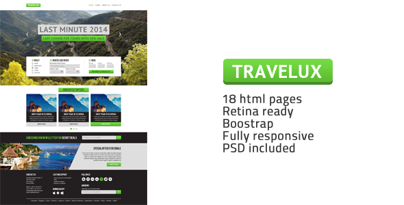 Travelux – Template for Travel or Hotel Business