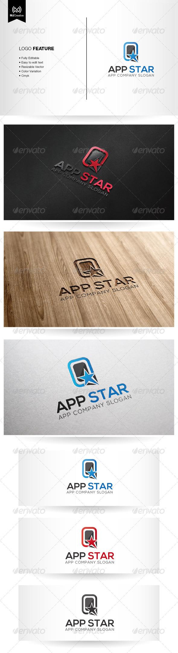 App Star Logo - Symbols Logo Templates